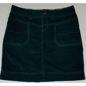 Athleta Green Skirt Size 4 Velvet Feel Drawstring